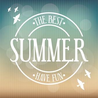 Conception de l'été au cours de l'illustration vectorielle de fond