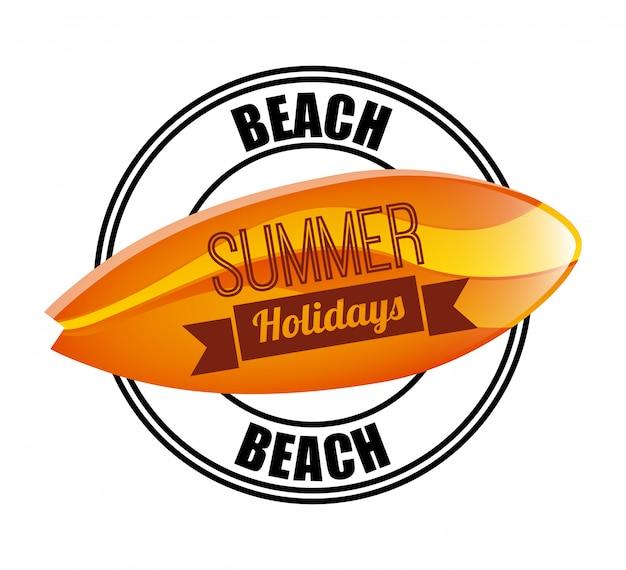 Conception de l'été sur l'illustration vectorielle fond blanc