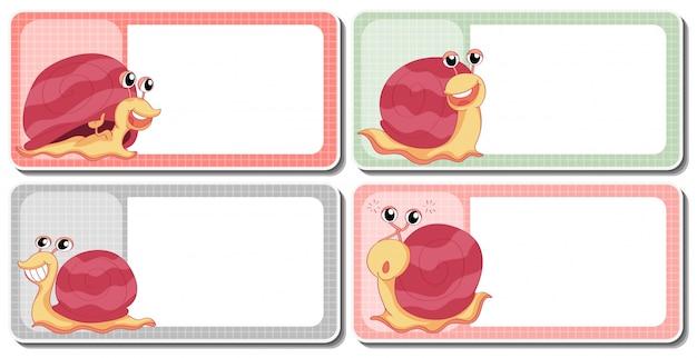 Conception d'étiquette avec des escargots