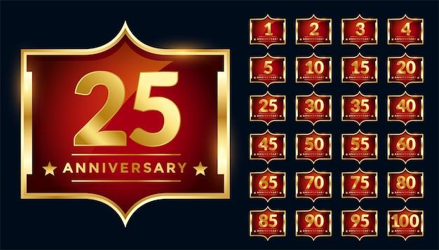 Conception D'étiquette Royale Pour L'anniversaire Vecteur gratuit