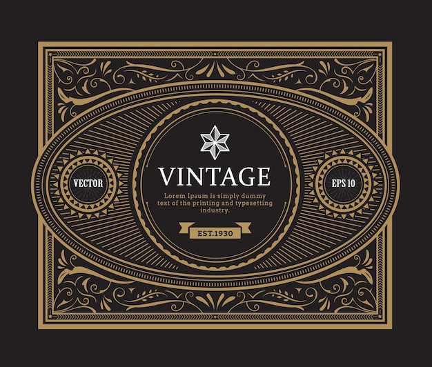 Conception d'étiquettes anciennes vintage