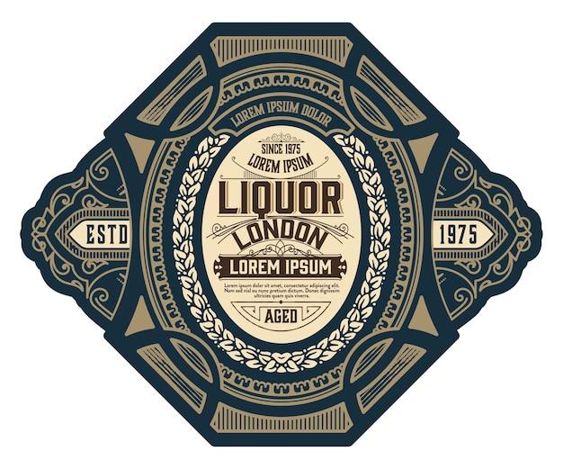 Conception d'étiquettes de gin vintage