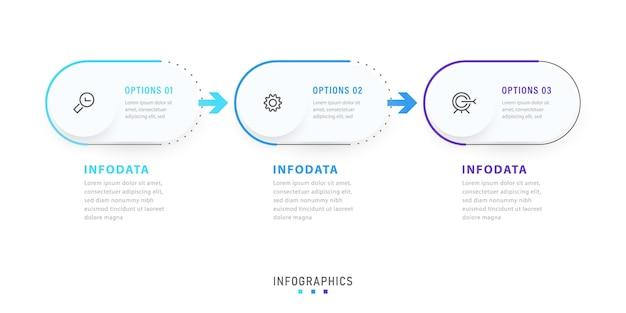 Conception d'étiquettes d'infographie vectorielle