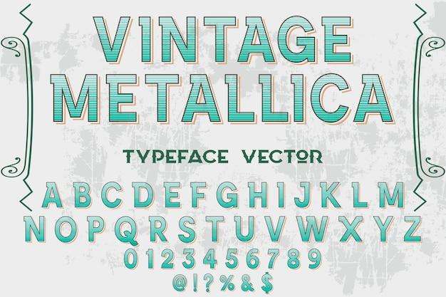 Conception d'étiquettes de lettrage vintage metallica