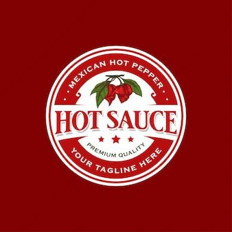 Conception d'étiquettes de sauce insigne classique