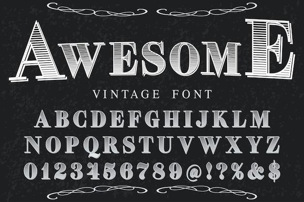 Conception d'étiquettes typographiques impressionnante