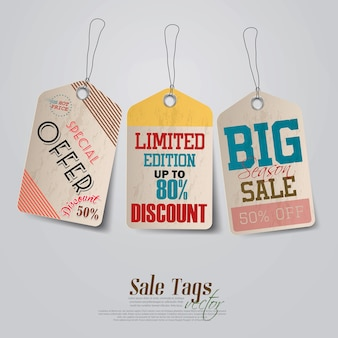 Conception d'étiquettes de vente vintage