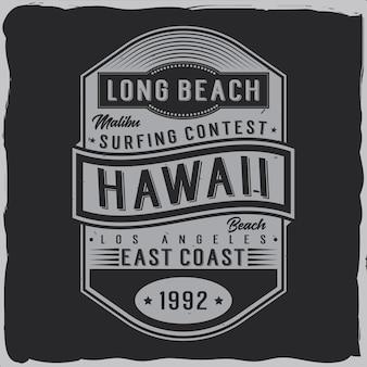 Conception d'étiquettes vintage avec composition de lettrage sur dark. conception de t-shirt.