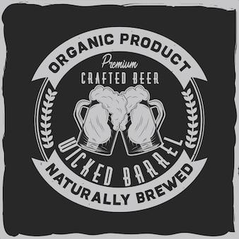 Conception d'étiquettes vintage avec composition de lettrage sur fond sombre. conception de t-shirt.