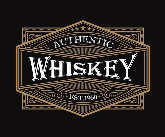 Conception d'étiquettes de whisky vintage