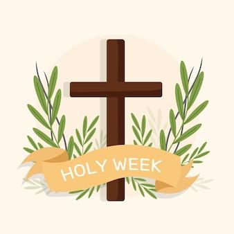 Conception d'événement plat semaine sainte
