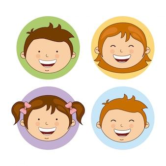 Conception de la famille au cours de l'illustration vectorielle fond blanc