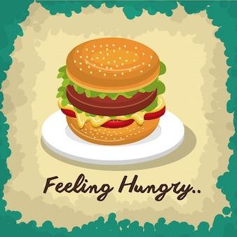 Conception de fast-food burger isolée