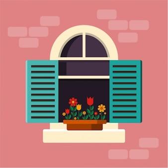 Conception fenêtre d'arrière-plan