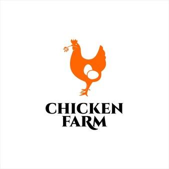 Conception de ferme de poulet simple et moderne