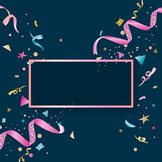 Conception festive de confettis colorés