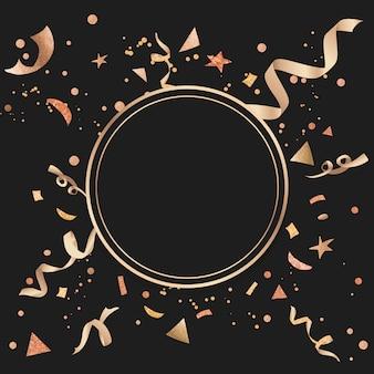 Conception festive de confettis d'or