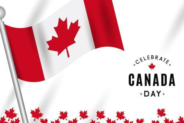 Conception de la fête du canada avec drapeau
