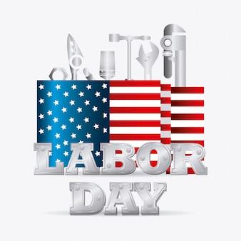 Conception de la fête du travail aux états-unis.