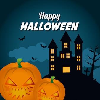 Conception de fête de festival d'halloween heureux.