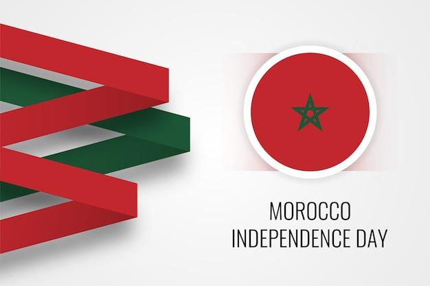 Conception de la fête de l'indépendance du maroc heureux