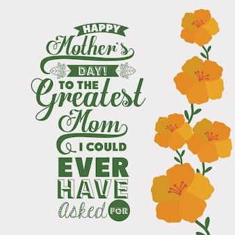 Conception de fête des mères
