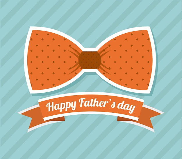 Conception de la fête des pères au cours de l'illustration vectorielle fond bleu