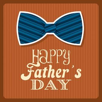 Conception de la fête des pères sur fond orange