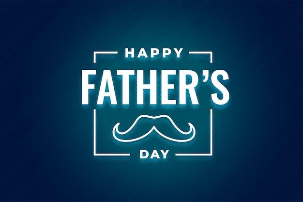 Conception de fête des pères heureux de style moderne