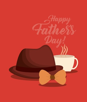 Conception de fête des pères heureux