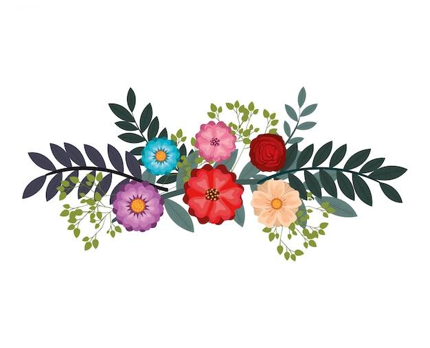 Conception de fleur icône