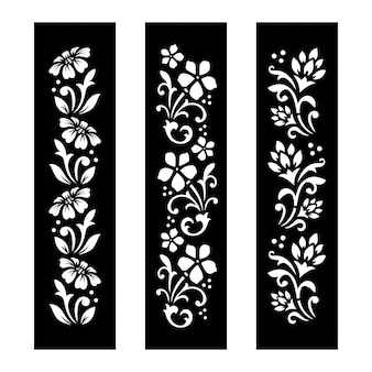 Conception de fleurs en noir et blanc