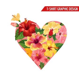 Conception de fleurs tropicales pour le coeur floral d'été