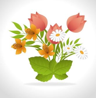 Conception de fleurs.