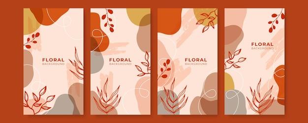 Conception florale abstraite. papier peint de luxe de style minimal avec fleur d'art liquide et feuilles botaniques, formes organiques, aquarelle.