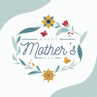 Conception florale de la fête des mères