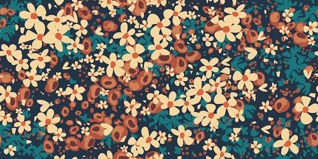 Conception florale d'impression de mode pour le printemps, robe de femme d'été