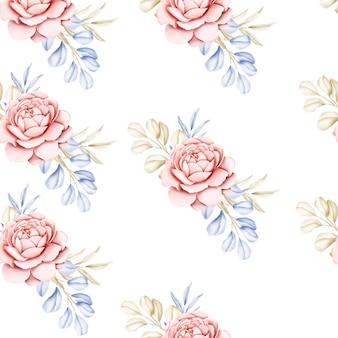Conception florale d'invitation de mariage élégante