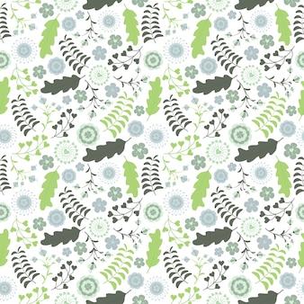 Conception florale transparente motif vectoriel avec des fleurs turquoises