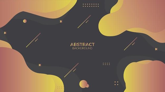 Conception fluide abstraite de fond avec l'objet géométrique, conception décorative dynamique dans le style abstrait