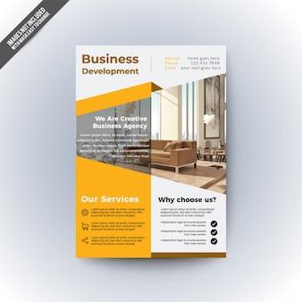 Conception de flyer d'affaires