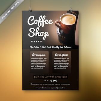 Conception de flyer de café