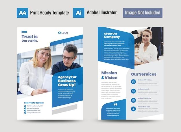 Conception de flyer d'entreprise ou conception de prospectus et de dépliants ou conception de brochure de feuille de marketing