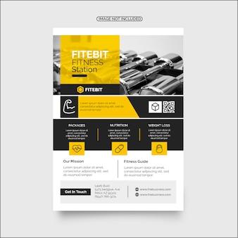 Conception de flyer d'entreprise fitness coloré pour gym