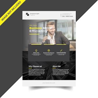 Conception de flyer d'entreprise moderne simple