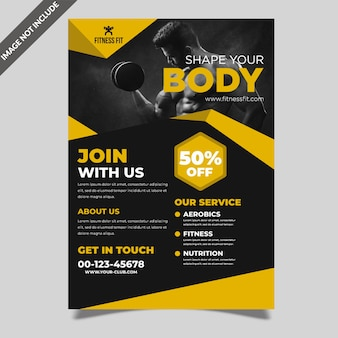 Conception de flyer fitness créatif