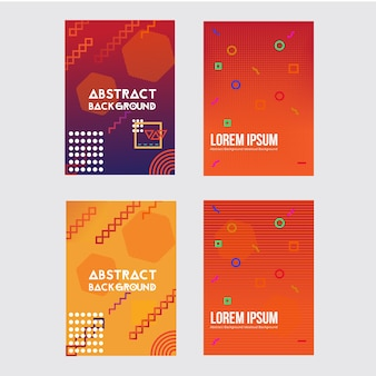 Conception de flyer géométrique abstrait