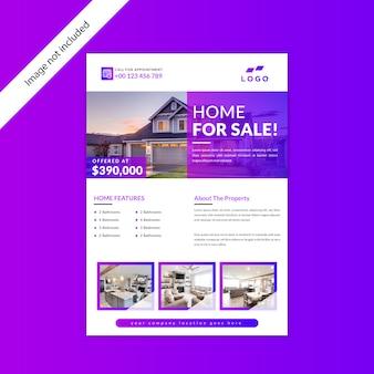 Conception de flyer immobilier maison à vendre