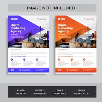Conception de flyer intelligent moderne d'entreprise template vecteur premium