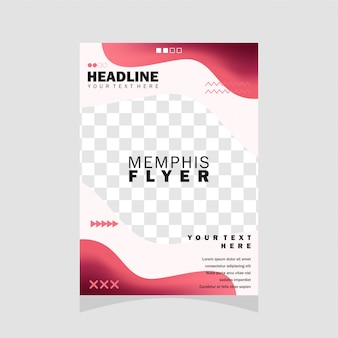 Conception de flyer memphis